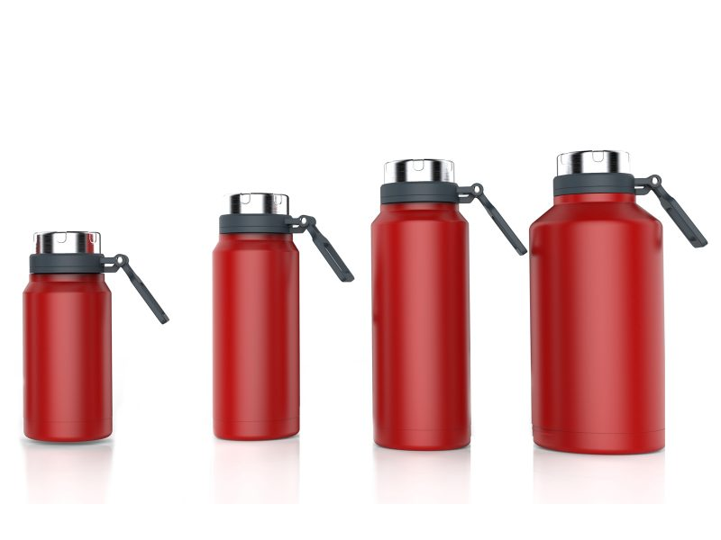 Stainless Steel Double Wall Insulated Sports Water Bottles with handle – wide mouth