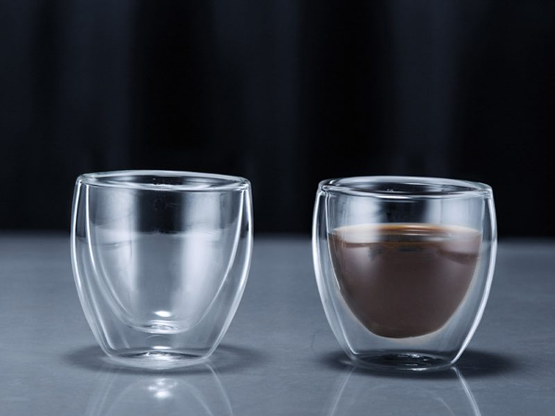 Minimal Double Wall Borosilicate Glass Cup Set of two – 3 Oz